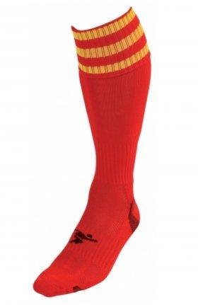 Three Stripe Pro Sock rd/gld