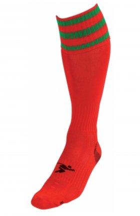 Three Stripe Pro Sock rd/grn