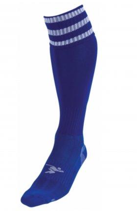 Three Stripe Pro Sock ryl/wht