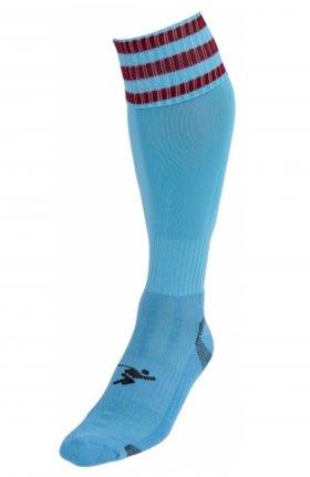 Three Stripe Pro Sock sky/mrn