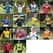 Olympico Football Shirt Tang/Blk/Wht