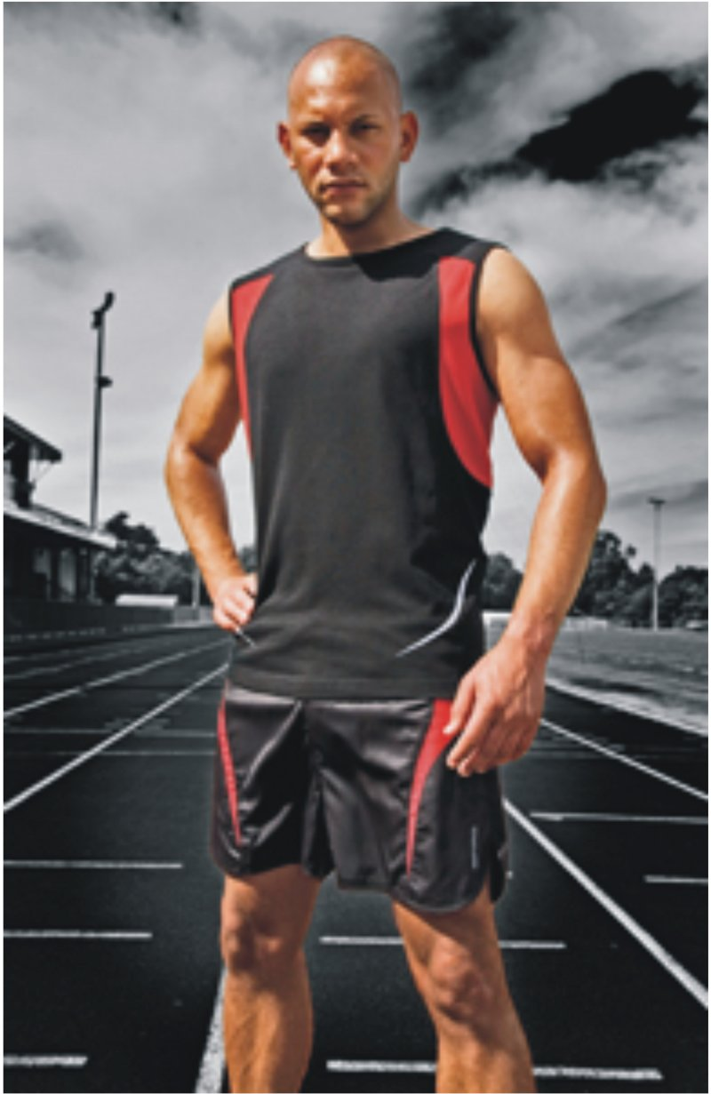 Spiro men athletic vest prosport international for Dress shirts for athletic guys